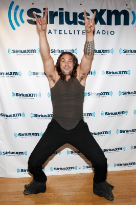 Jason Momoa visits SiriusXM Studios in New York City on August 19, 2011