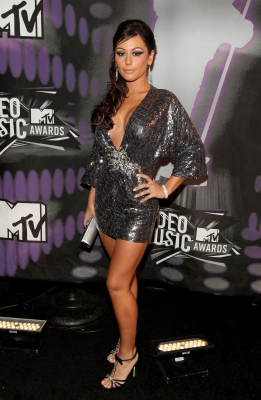 Jennifer 'JWOWW' Farley arrives at the 2011 MTV Video Music Awards at Nokia Theatre L.A. LIVE in Los Angeles on August 28, 2011