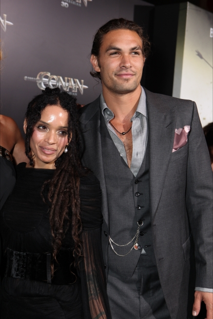 "Lisa Bonet and Jason Momoa at the world premiere of Lionsgate's ""Conan the Barbarian"" at Regal Cinemas L.A. Live, Los Angeles, on August 11, 2011"