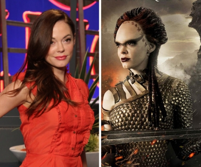 "Rose McGowan on Access Hollywood Live, and as Marique in ""Conan the Barbarian"""