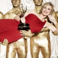 Jane Lynch strikes a pose as  host the 63rd Primetime Emmy Awards