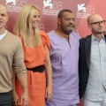 Matt Damon, Gwyneth Paltrow, Laurence Fishburne and director Steven Soderbergh pose at the 'Contagion' photocall during the 68th Venice Film Festival at Palazzo del Cinema in Venice, Italy, on September 2, 2011