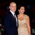 Matt Damon and his wife, Luciana Barroso, attend the 'Contagion' premiere during the 68th Venice Film Festival at Palazzo del Cinema in Venice, Italy, on September 3, 2011
