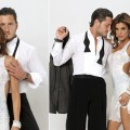 Elisabetta Canalis sans tattoo, with Val Chmerkovskiy (left), and with tattoo(right)