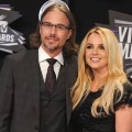Jason Trawick and Britney Spears arrive at the 28th Annual MTV Video Music Awards at Nokia Theatre L.A. Live in Los Angeles on August 28, 2011