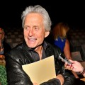 Michael Douglas attends the Michael Kors Spring 2012 fashion show during Mercedes-Benz Fashion Week at The Theater at Lincoln Center in New York City on September 14, 2011