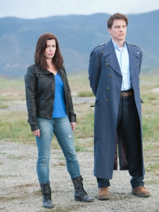 Eve Myles as Gwen Cooper &amp; John Barrowman as Captain Jack Harkness in &#8220;Torchwood: Miracle Day&#8221;