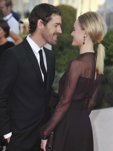 Kate Bosworth shares a tender moment with new man Michael Polish at the opening ceremony of the 37th Deauville American Film Festival, Deauville, France, on September 2, 2011