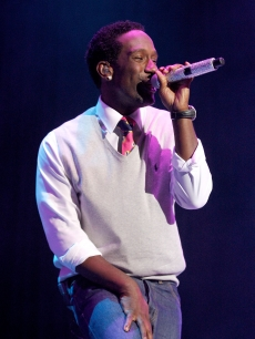 Shawn Stockman performing at the 2011 Essence Music Festival at the Louisiana Superdome in New Orleans on July 1, 2011. 