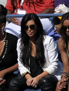 LaLa Vazquez, Kim Kardashian and Ciara attend Day Eleven of the 2011 US Open at the USTA Billie Jean King National Tennis Center, New York City, on September 8, 2011