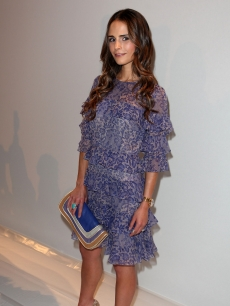 Jordana Brewster attends the Rebecca Taylor Spring 2012 fashion show during Mercedes-Benz Fashion Week at The Stage at Lincoln Center on September 9, 2011