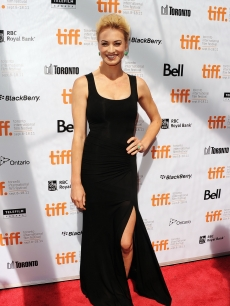 Yvonne Strahovski arrives at 'Killer Elite' Premiere at Roy Thomson Hall during the 2011 Toronto International Film Festival in Toronto, Canada, on September 10, 2011