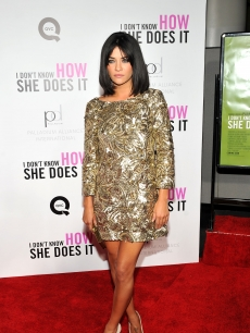 Jessica Szohr attends the 'I Don't Know How She Does It' premiere, sponsored by QVC & Palladium Jewelry, at AMC Lincoln Square Theater, NYC, on September 12, 2011