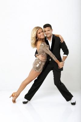 "Kristin Cavallari strikes a pose with partner Mark Ballas for Season 13 of ""Dancing with the Stars"""