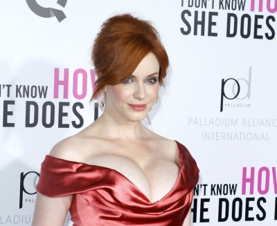 Christina Hendricks steps out at premiere of 'I Don't Know How She Does It' at AMC Loews Lincoln Square in New York City on September 12, 2011