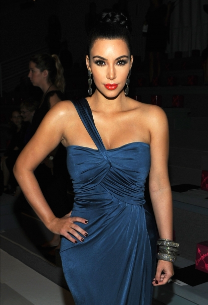 Kim Kardashian is seen looking glam at the Vera Wang Spring 2012 fashion show during Mercedes-Benz Fashion Week at The Stage at Lincoln Center in New York City on September 13, 2011