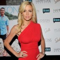 Camille Grammer steps out at Hamptons Magazine&#8217;s celebration with cover star Andy Cohen at the Hudson Hotel in New York City on August 8, 2011