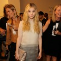 Chloe Moretz attends the Calvin Klein Collection Spring 2012 fashion show during Mercedes-Benz Fashion Week at 205 West 39th Street in NYC on September 15, 2011