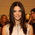 Ashley Greene poses backstage at the Jenny Packham Spring 2012 fashion show during Mercedes-Benz Fashion Week at 205 West 39th Street, NYC, on September 15, 2011