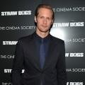 Alexander Skarsgaard attends The Cinema Society screening of Screen Gems' 'Straw Dogs' at the Tribeca Grand Hotel, New York City, on September 15, 2011