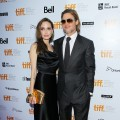 Angelina Jolie and Brad Pitt arrive at 'Moneyball' Premiere at Roy Thomson Hall during the 2011 Toronto International Film Festival in Toronto, Canada on September 9, 2011