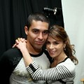 Wilmer Valderrama and Paula Abdul pose at The HP Touchsmart Gift Lounge backstage at the Nokia Theatre, in celebration of The 63rd Primetime Emmy Awards, produced by On 3 Productions on September 17, 2011 in Los Angeles