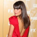 Lea Michele arrives to the Fox Broadcasting, Twentieth Century Fox and FX 2011 Emmy Nomination Celebration at Fig & Olive Melrose Place in West Hollywood, Calif. on September 18, 2011
