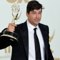 Kyle Chandler celebrates his win in press room during the 63rd Primetime Emmy Awards at the Nokia Theatre L.A. Live in Los Angeles on September 18, 2011 