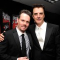 Kevin Dillon and Chris Noth pose inside the HP Touchsmart Gift Lounge backstage at the Nokia Theatre, in celebration of The 63rd Primetime Emmy Awards, produced by On 3 Productions on September 18, 2011 in Los Angeles