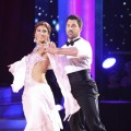 "Hope Solo and Maksim Chmerkovskiy perform the Viennese waltz on ""Dancing with the Stars,"" Week 1, September 19, 2011"