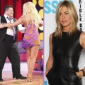 "Chaz Bono and Lacey Schwimmer on ""Dancing with the Stars"" (left), Jennifer Aniston (right)"