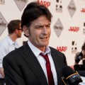 Charlie Sheen chats with Access Hollywood at AARP's Movies For Grown Ups Film Festival screening of 'The Way' at Nokia Theatre L.A. Live in Los Angeles on September 23, 2011
