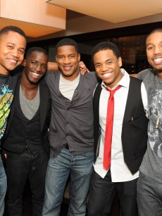 Cuba Gooding Jr, Elijah Kelley, Nate Parker, Tristan Wilds and Michael B Jordan celebrate their upcoming film, 'Red Tails,' at BLT Steak in West Hollywood, Calif., on September 13, 2011