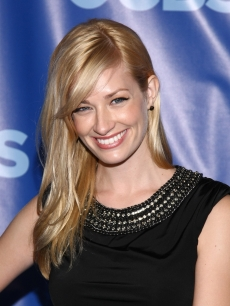 Beth Behrs attends the 2011 CBS Upfront at The Tent at Lincoln Center, NYC, on May 18, 2011