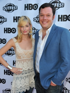 Beth Behrs and Michael Gladis arrives to the 29th Annual Los Angeles Gay & Lesbian Film Festival's premiere of 'The Green' at the Directors Guild Of America, Los Angeles, on July 9, 2011