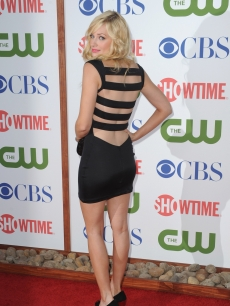 Beth Behrs arrives at the TCA Party for CBS, The CW and Showtime held at The Pagoda, Beverly Hills, on August 3, 2011