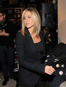 Jennifer Aniston visits Bloomingdale's 59th Street Store, NYC, on September 15, 2011