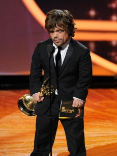 Peter Dinklage accepts the Outstanding Supporting Actor in a Drama Series award onstage during the 63rd Annual Primetime Emmy Awards held at Nokia Theatre L.A. LIVE in Los Angeles on September 18, 2011