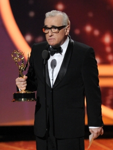 Martin Scorsese accepts the Outstanding Directing for a Drama Series award onstage during the 63rd Annual Primetime Emmy Awards held at Nokia Theatre L.A. LIVE in Los Angeles on September 18, 2011