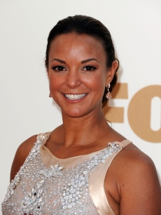 Eva La Rue arrives at the 63rd Annual Primetime Emmy Awards held at Nokia Theatre L.A. LIVE, Los Angeles, on September 18, 2011