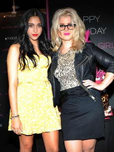 Lourdes Leon and Kelly Osbourne attend the Material Girl 1st birthday celebration at Macy's Herald Square, NYC, on September 20, 2011