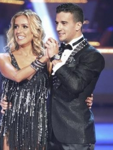 "Kristin Cavallari and Mark Ballas listen to the judges on Night 1, Week 1 of ""Dancing,"" September 19, 2011"