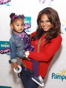 Christina Milian and daugther Violet attend Play-A-Palooza, sponsored by Pampers Cruisers 3-Way Fit at Dylan's Candy Bar, NYC, September,  21, 2011