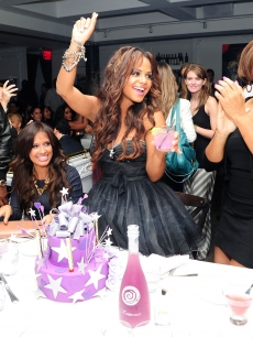 Christina Milian celebrates her 30th birthday at a bast at Beaumarchais in New York City on September 22, 2011