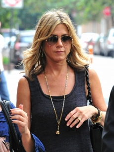 Jennifer Aniston is spotted taking a stroll in the West Village in New York City on September 26, 2011