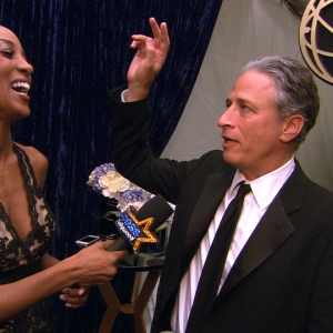 2011 Emmy Awards Backstage: Jon Stewart Happy For 'The Daily Show's' Ninth Emmy Win