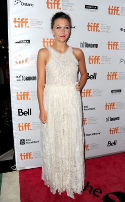 Maggie Gyllenhaal arrives at the 'Hysteria' Premiere during the 2011 Toronto International Film Festival held at the Roy Thomson Hall  in Toronto, Canada, on September 15, 2011