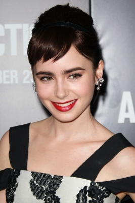 Lily Collins is seen at the premiere of 'Abduction' at Grauman's Chinese Theatre in Hollywood, Calif. on September 15, 2011