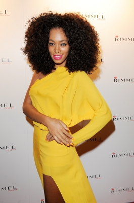 Solange Knowles arrives at the Rimmel & Kate Moss Party in London, England, on September 15, 2011