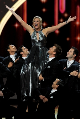 Jane Lynch performs onstage during the 63rd Annual Primetime Emmy Awards held at Nokia Theatre L.A. LIVE in Los Angeles on September 18, 2011